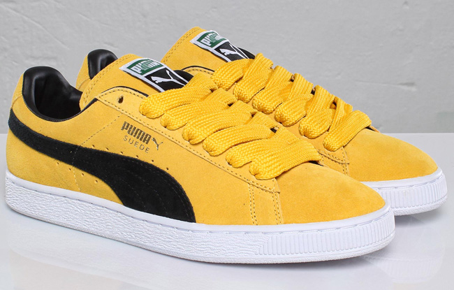 Yellow And White Puma Shoes